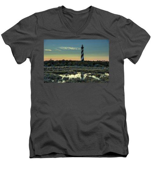 Cape Hatteras Sunset Men's V-Neck T-Shirt