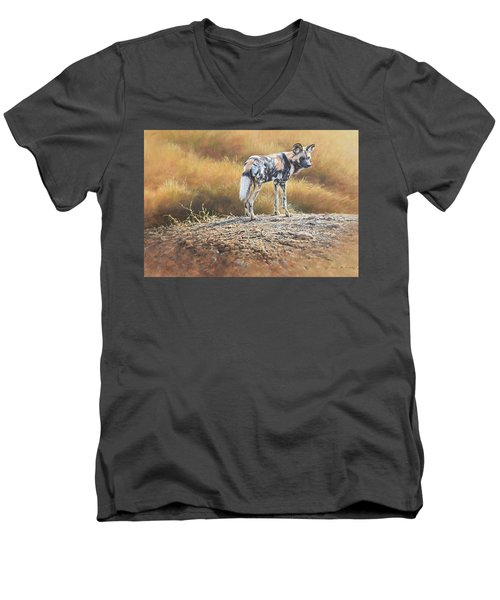 Cape Hunting Dog Men's V-Neck T-Shirt