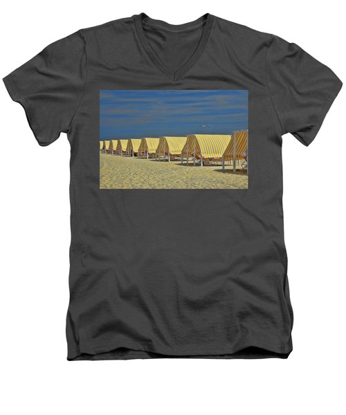 Cape May Cabanas 6 Men's V-Neck T-Shirt