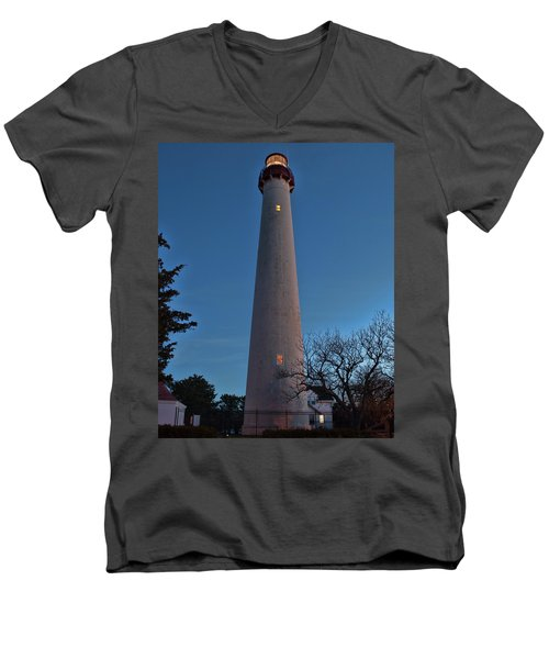 Cape May Lighthouse In Evening Men's V-Neck T-Shirt