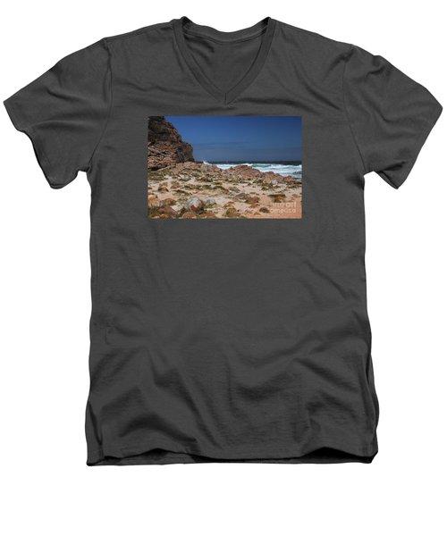 Cape Of Good Hope Men's V-Neck T-Shirt by Bev Conover