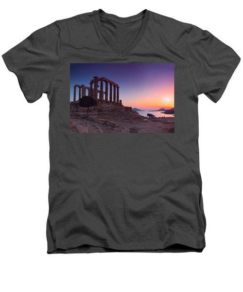 Cape Sounion Men's V-Neck T-Shirt