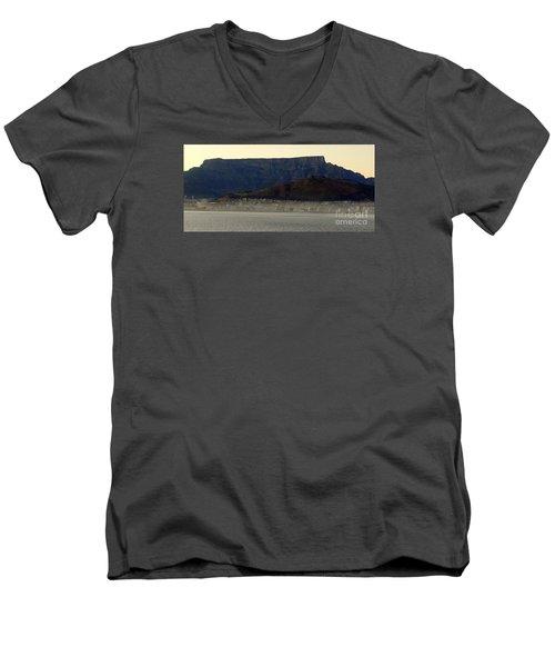 Cape Town Under Table Rock Men's V-Neck T-Shirt by John Potts