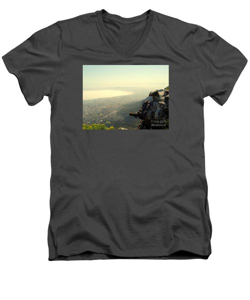 Cape Town View From Table Rock Men's V-Neck T-Shirt by John Potts
