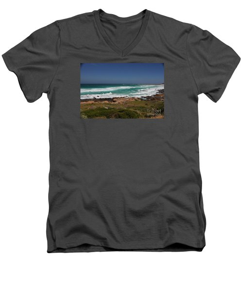 Capetown Peninsula Beach Men's V-Neck T-Shirt