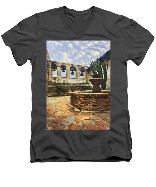 Capistrano Fountain Men's V-Neck T-Shirt