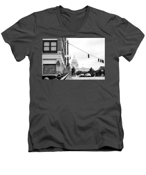Capital View Men's V-Neck T-Shirt