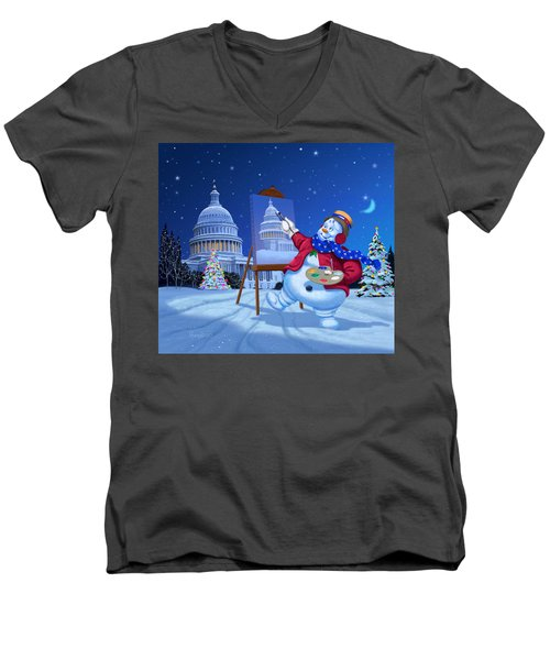 Capitol Snoman Men's V-Neck T-Shirt