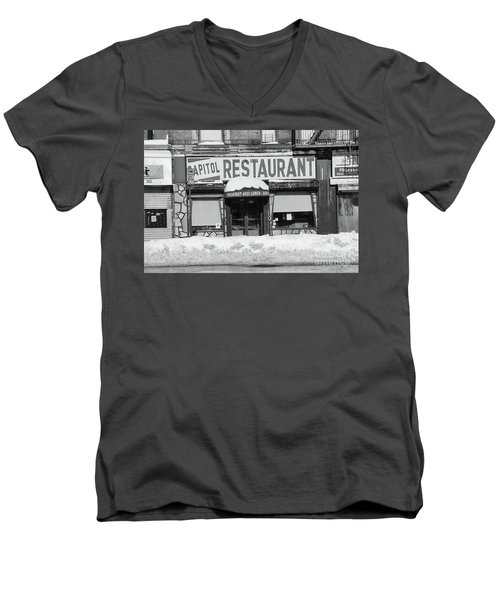 Men's V-Neck T-Shirt featuring the photograph Capitol Winter by Cole Thompson