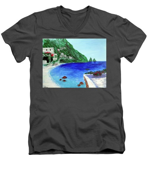 Capri Men's V-Neck T-Shirt