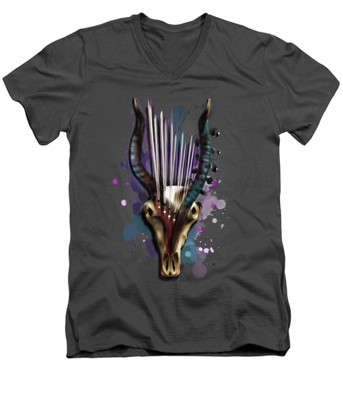 Capricorn Men's V-Neck T-Shirt by Melanie D