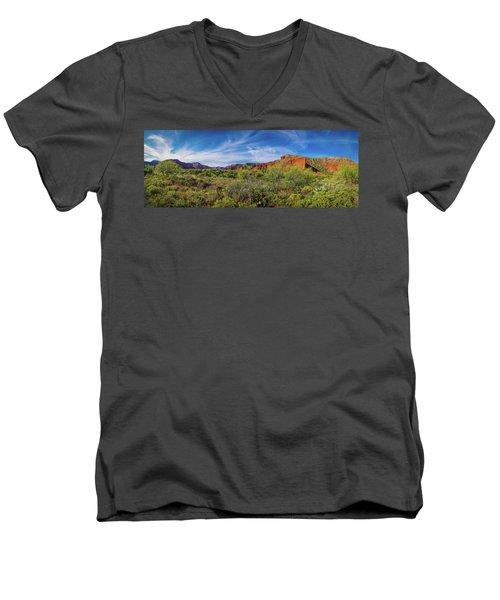 Caprock Canyon Panorama 2 Men's V-Neck T-Shirt