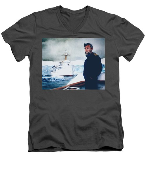 Capt Derek Law Men's V-Neck T-Shirt by Tim Johnson