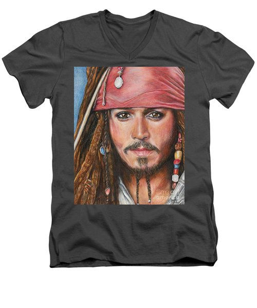 Captain Jack Men's V-Neck T-Shirt