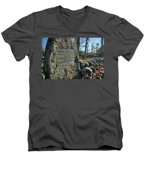 Captain John Locke Monument  Men's V-Neck T-Shirt
