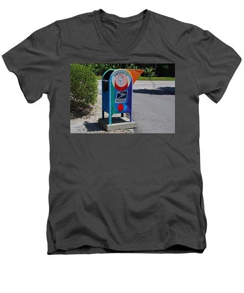 Men's V-Neck T-Shirt featuring the photograph Captiva Island Mailbox- Horizontal by Michiale Schneider