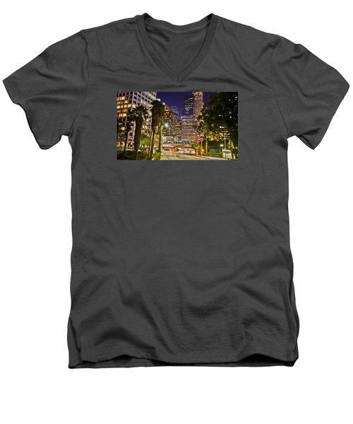 Captive In The City Light Embrace Men's V-Neck T-Shirt