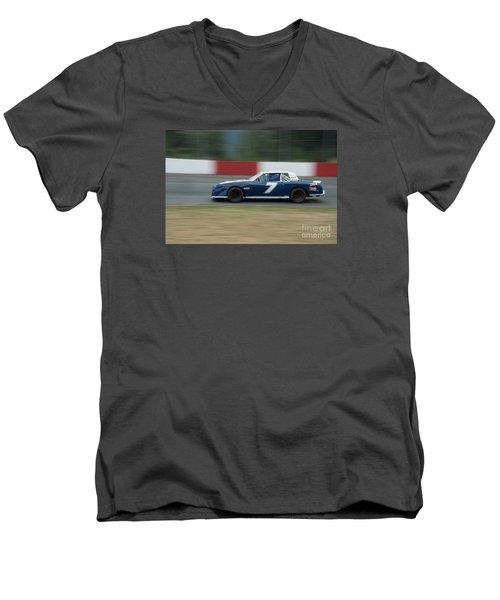 Car 7 In The Turn. Men's V-Neck T-Shirt