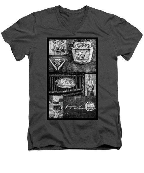 Car Emblems Men's V-Neck T-Shirt