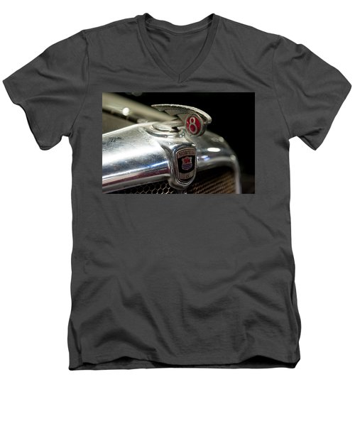 Car Mascot Iv Men's V-Neck T-Shirt by Helen Northcott