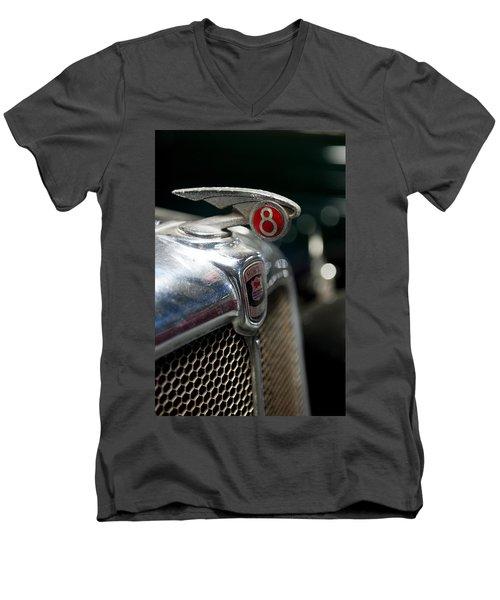 Car Mascot V Men's V-Neck T-Shirt by Helen Northcott