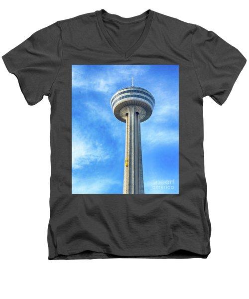Car On Skylon Tower Men's V-Neck T-Shirt