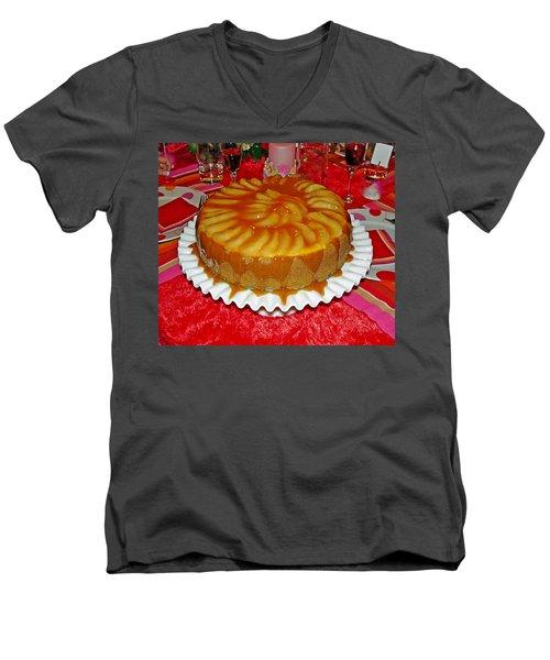 Caramel Apple Cheesecake Valentine Men's V-Neck T-Shirt