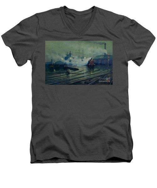 Cardiff Docks Men's V-Neck T-Shirt