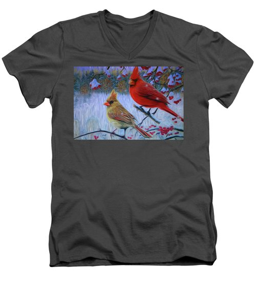 Cardinal Family Men's V-Neck T-Shirt