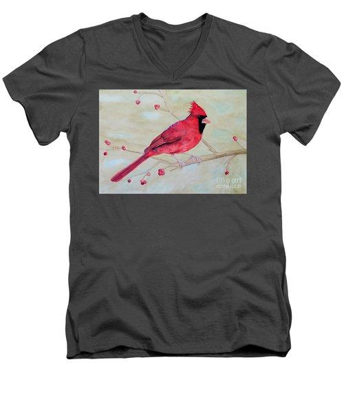 Cardinal II Men's V-Neck T-Shirt by Laurel Best