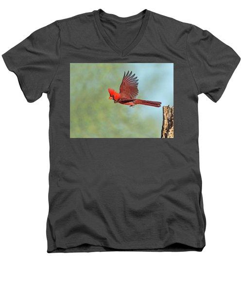 Cardinal On A Mission Men's V-Neck T-Shirt