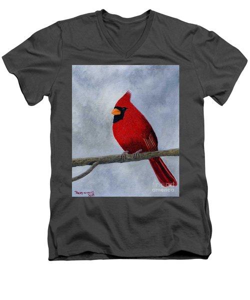 Cardnial Men's V-Neck T-Shirt