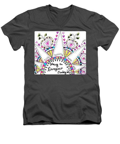 Caregiver Crown Of Hearts Men's V-Neck T-Shirt