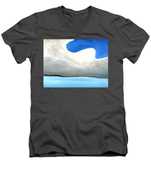 Men's V-Neck T-Shirt featuring the painting Caribbean Trade Winds by Dick Sauer