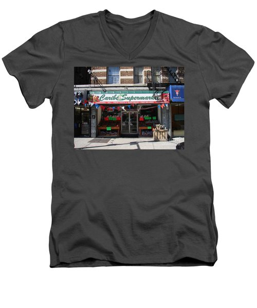 Men's V-Neck T-Shirt featuring the photograph Caribe Supermarket by Cole Thompson