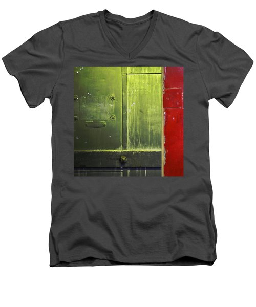 Carlton 6 - Firedoor Abstract Men's V-Neck T-Shirt
