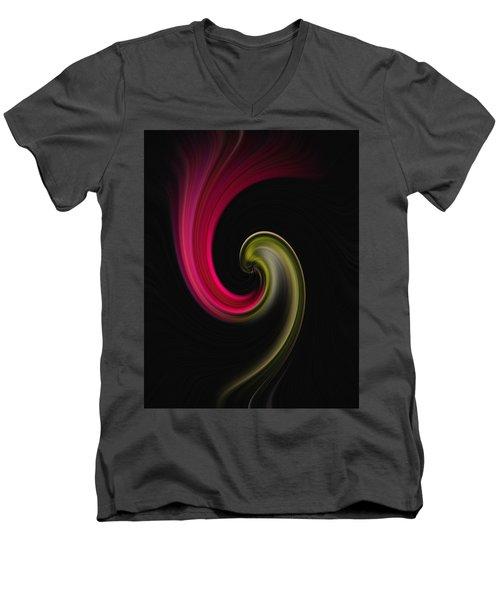 Carnation Twirl Men's V-Neck T-Shirt