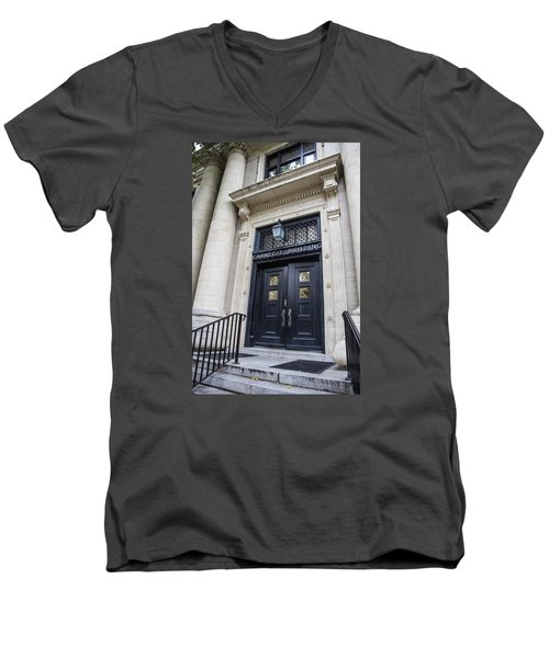 Carnegie Building Penn State  Men's V-Neck T-Shirt by John McGraw