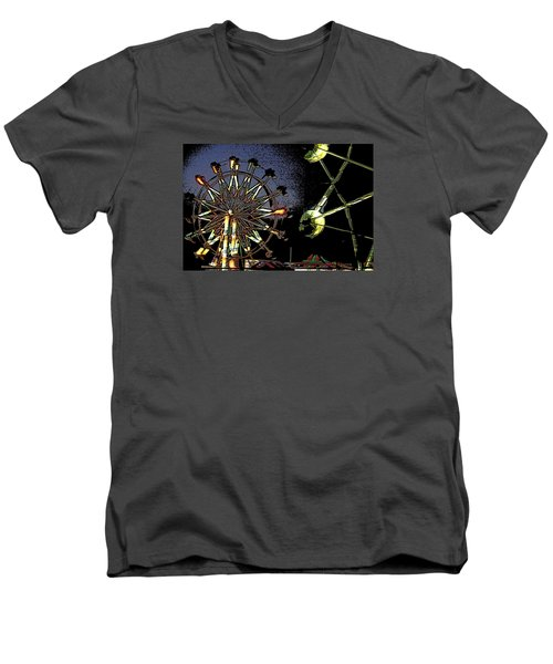 Men's V-Neck T-Shirt featuring the photograph Carnival by Donna G  Smith