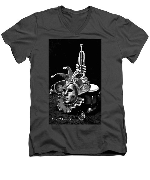 Men's V-Neck T-Shirt featuring the photograph Carnival Time by Elf Evans
