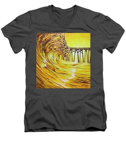 Carolina Beach North End Pier Men's V-Neck T-Shirt