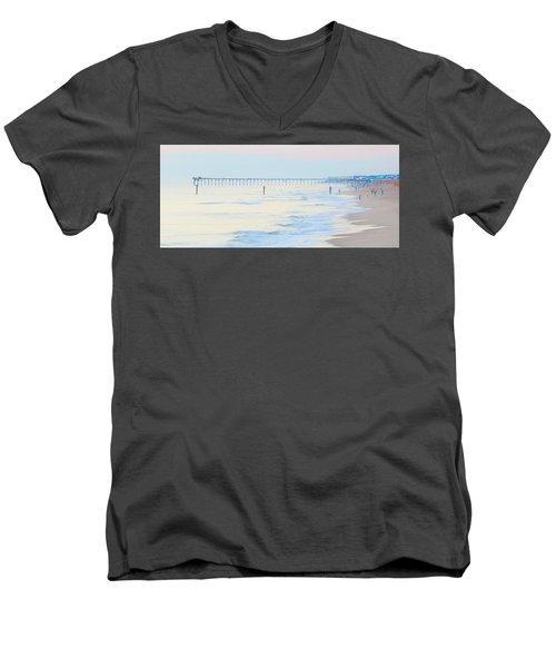 Carolina Beach Thanksgiving Day Men's V-Neck T-Shirt by Glenn Gemmell