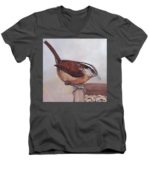 Carolina Wren Men's V-Neck T-Shirt