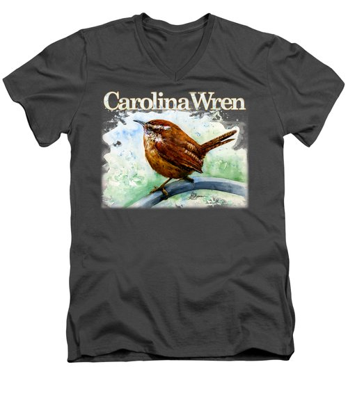 Carolina Wren Shirt Men's V-Neck T-Shirt