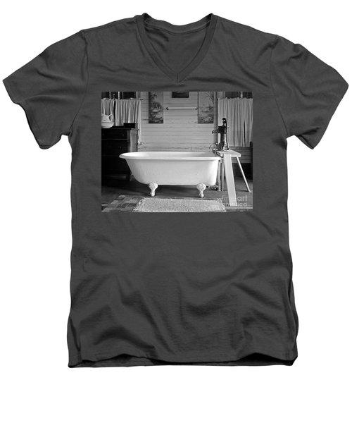 Caroline's Key West Bath Men's V-Neck T-Shirt by John Stephens
