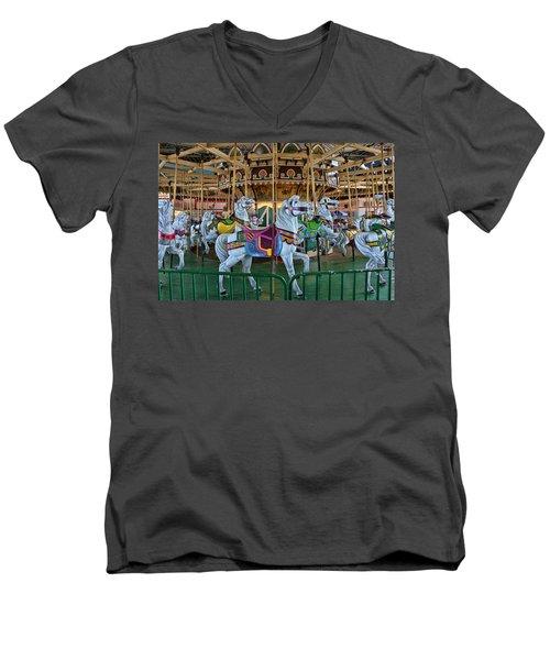 Carousel Horses Men's V-Neck T-Shirt