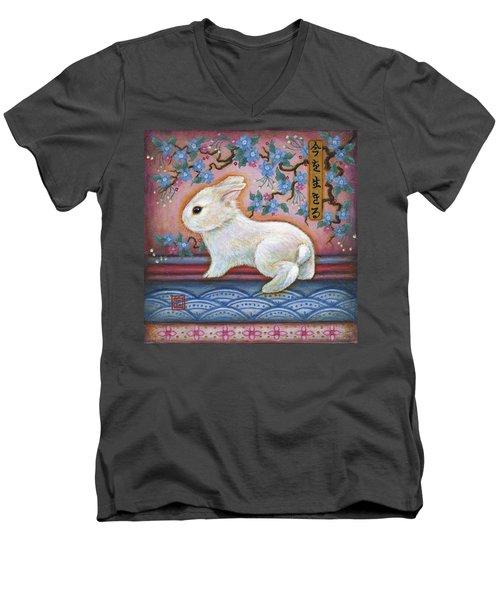 Carpe Diem Rabbit Men's V-Neck T-Shirt