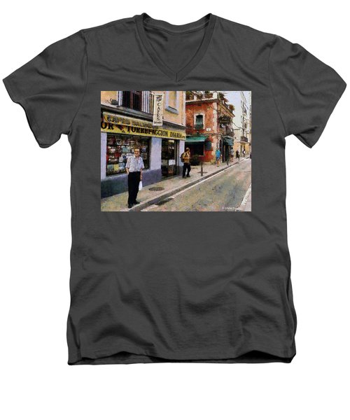 Carrer Dosrius Men's V-Neck T-Shirt by Kai Saarto