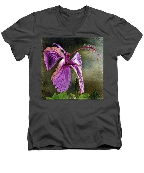 Men's V-Neck T-Shirt featuring the photograph Caressed By The Light by Bellesouth Studio