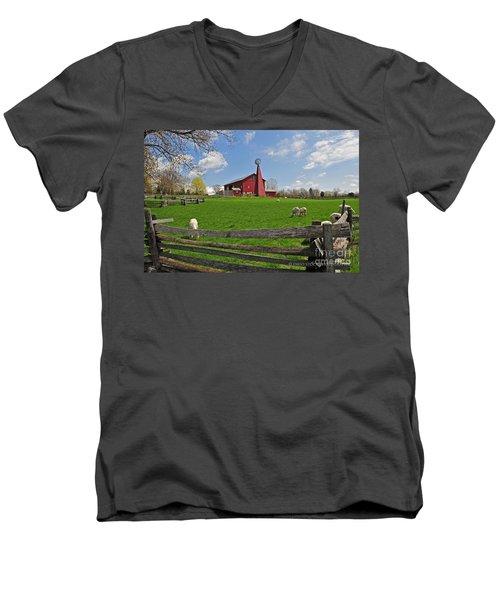 D14d-43 Carriage Hill Farm Metro Park Photo Men's V-Neck T-Shirt